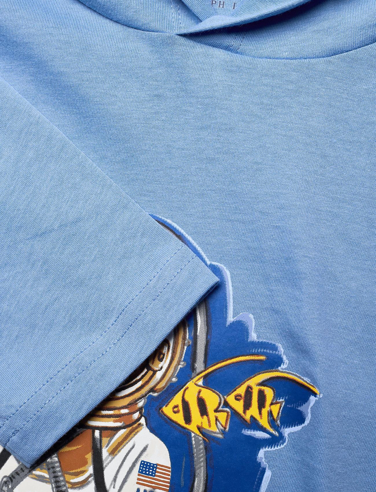 Ralph Lauren Kids - Beach Bear Hooded Tee - bluzy z kapturem - fall blue