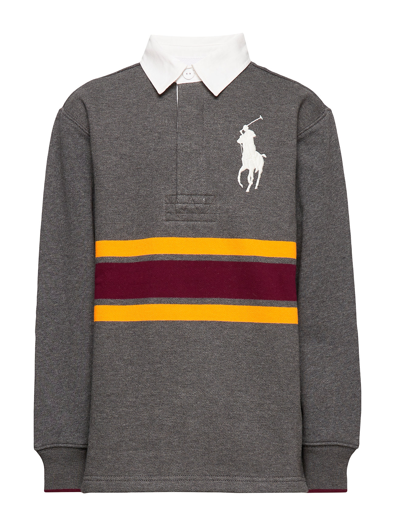 Ralph Lauren Kids Rugby Sweatshirt - FLANNEL GREY HEAT