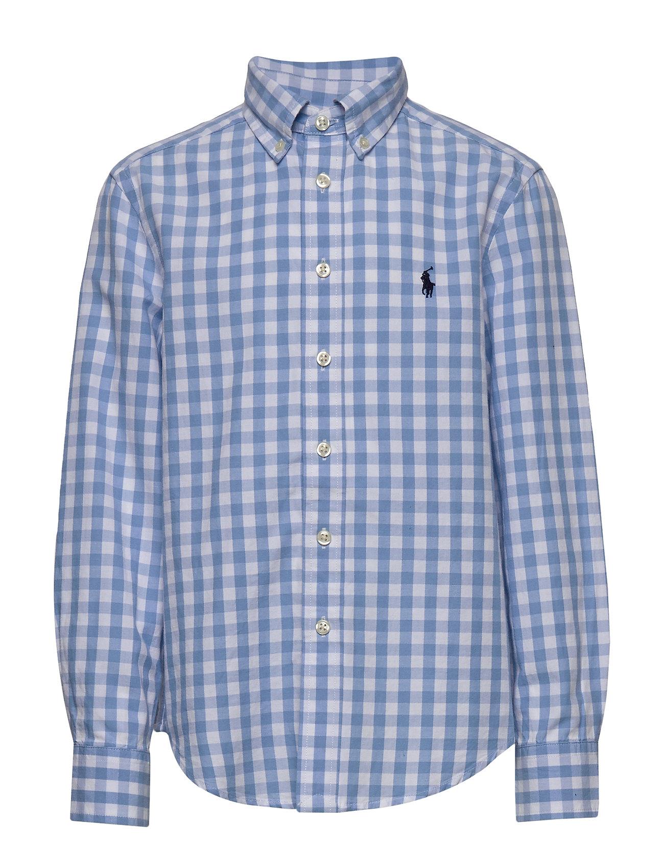 Ralph Lauren Kids Gingham Cotton-Blend Shirt - BLUE LAGOON MULTI