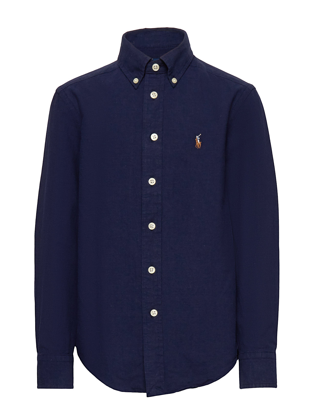 Ralph Lauren Kids Cotton-Blend Shirt - NEWPORT NAVY