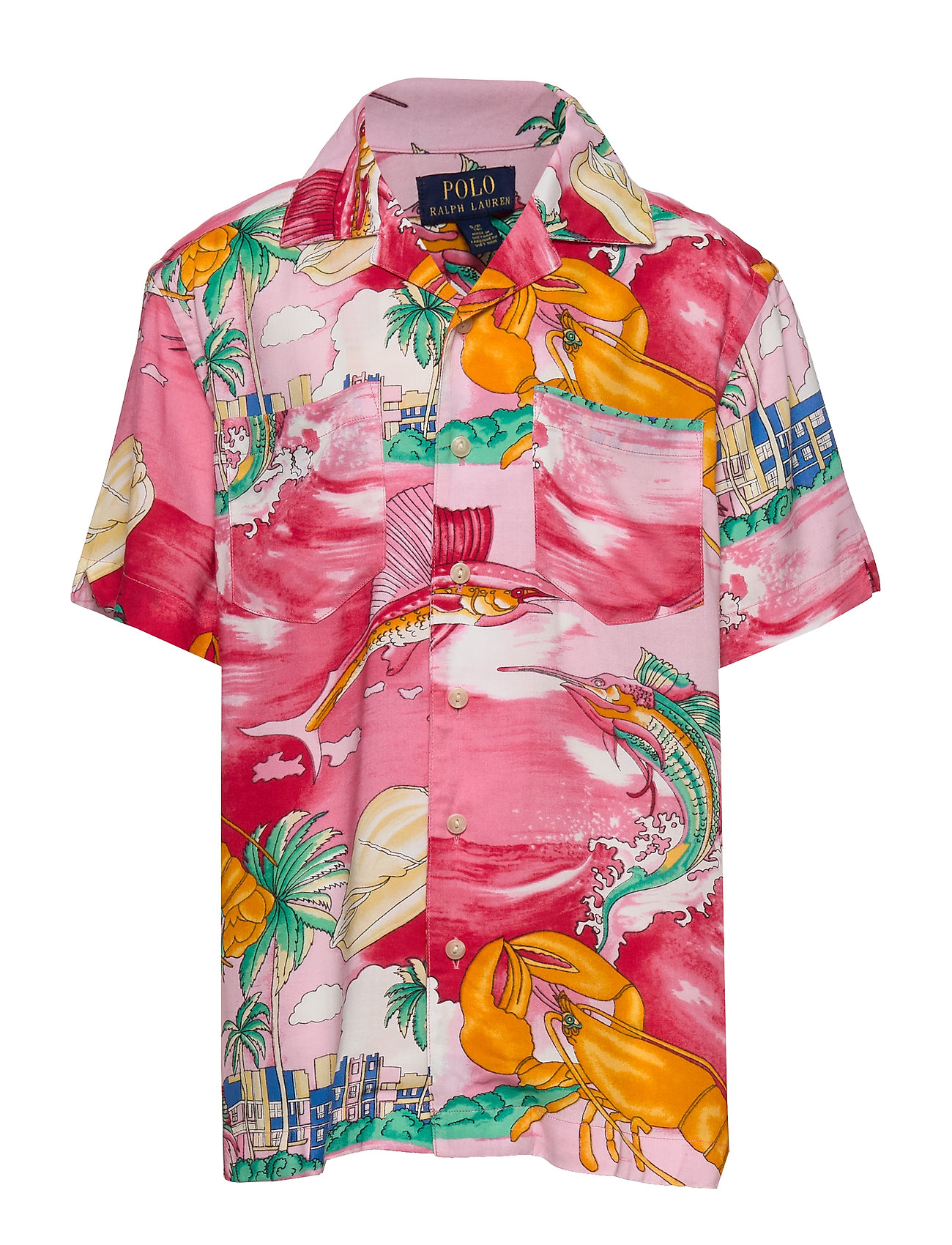 Ralph Lauren Kids Tropical Camp Shirt - 4324 LOBSTER  AND