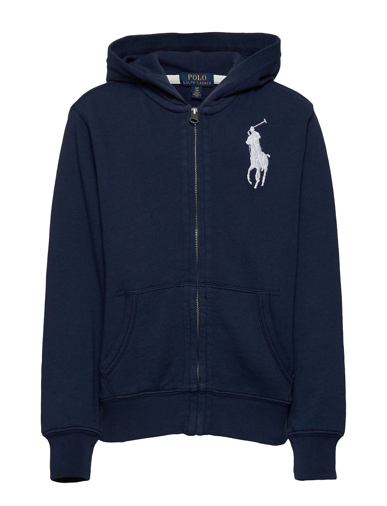 Ralph Lauren Kids Big Pony French Terry Hoodie - NEWPORT NAVY