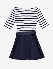 Ralph Lauren Kids - Two-Tone Ponte Dress - robes - french navy/white - 3