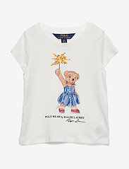 Ralph Lauren Kids - Sparkler Bear Cotton Tee - short-sleeved - deckwash white - 0