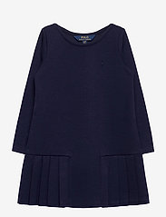Ralph Lauren Kids - LT WT PONTE-LS PLTED DRS-DR-KNT - dresses - french navy - 0
