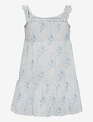 Ralph Lauren Kids - Floral Tiered Cotton Jersey Dress - kleider - blue-white - 1