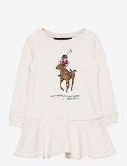 Ralph Lauren Kids - Polo Bear Cotton Fleece Dress - dresses - nevis - 0