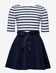Ralph Lauren Kids - Two-Tone Ponte Dress - robes - french navy/white - 0
