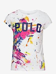 Ralph Lauren Kids - 30/1 JERSEY-POLO TEE-TP-KNT - short-sleeved - white multi - 0