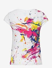 Ralph Lauren Kids - 30/1 JERSEY-POLO TEE-TP-KNT - short-sleeved - white multi - 1