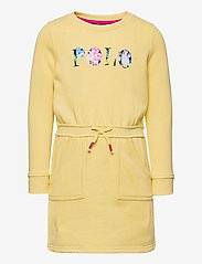 Ralph Lauren Kids - Floral-Logo Fleece Dress - dresses - banana peel - 0