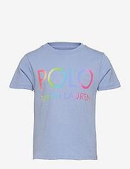 Ralph Lauren Kids - Logo Cotton Jersey Tee - pattern short-sleeved t-shirt - chambray blue - 0