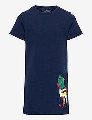 Ralph Lauren Kids - Big Pony Double-Knit Tee Dress - kleider - french navy - 0
