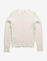 Ralph Lauren Kids - Mini-Cable Cotton Cardigan - gilets - warm white - 1
