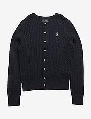 Ralph Lauren Kids - Mini-Cable Cotton Cardigan - gilets - hunter navy - 0