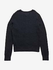 Ralph Lauren Kids - Mini-Cable Cotton Cardigan - gilets - hunter navy - 1