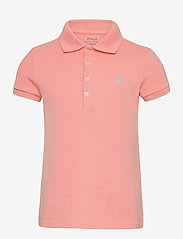 Ralph Lauren Kids - Stretch-Cotton-Mesh Polo Shirt - polo shirts - deco coral - 0