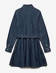 Ralph Lauren Kids - Belted Cotton Denim Shirtdress - robes - indigo - 2