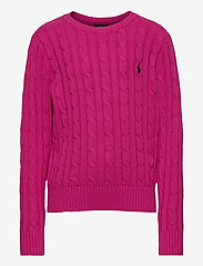 Ralph Lauren Kids - COTTON-CABLE CN-TP-SWT - knitwear - college pink/rl n - 0