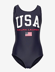 Ralph Lauren Kids - USA One-Piece Swimsuit - swimsuits - hunter navy - 0