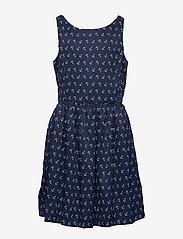 Ralph Lauren Kids - Anchor-Print Twill Dress - dresses - anchor print - 5