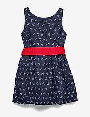 Ralph Lauren Kids - Anchor-Print Twill Dress - dresses - anchor print - 6