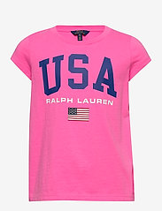 Ralph Lauren Kids - Cotton Jersey Graphic Tee - short-sleeved - baja pink - 0