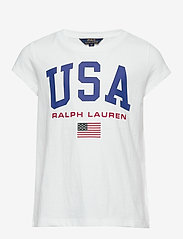 Ralph Lauren Kids - Cotton Jersey Graphic Tee - short-sleeved - pure white - 0