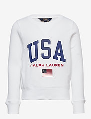 Ralph Lauren Kids - USA French Terry Pullover - sweatshirts - pure white - 0