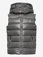 Ralph Lauren Kids - POLY PLAINWEAVE-CHANNEL VEST-OW-VST - vests - magnum grey - 0