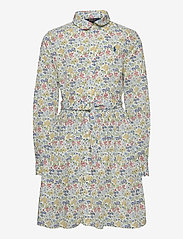 Ralph Lauren Kids - PRINTED COTTON POPL-LS SHIRTDRES-DR - dresses - white multi - 0