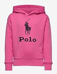 Ralph Lauren Kids - Big Pony Fleece Hoodie - hoodies - baja pink - 0