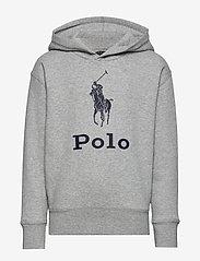 Ralph Lauren Kids - Big Pony Fleece Hoodie - hoodies - lt grey heather - 0