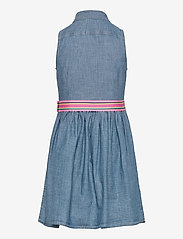 Ralph Lauren Kids - Cotton Chambray Shirtdress - jurken - indigo - 1