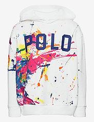 Ralph Lauren Kids - Paint-Splatter Fleece Hoodie - hoodies - white multi - 0