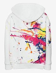 Ralph Lauren Kids - Paint-Splatter Fleece Hoodie - hoodies - white multi - 1