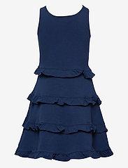 Ralph Lauren Kids - Ruffled Cotton Jersey Dress - dresses - french navy - 1