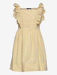 Ralph Lauren Kids - Floral Cotton Poplin Dress - kleider - yellow multi - 0