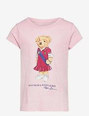 Ralph Lauren Kids - Polo Bear Cotton Jersey Tee - short-sleeved - hint of pink - 0
