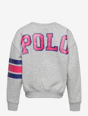 Ralph Lauren Kids - Logo Striped Fleece Sweatshirt - sweatshirts - andover heather - 1