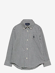 Ralph Lauren Kids - Plaid Cotton Poplin Shirt - overhemden - green/wine - 0