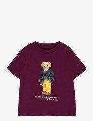 Polo Bear & Big Pony Cotton Tee - CLASSIC WINE