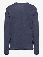 Ralph Lauren Kids - Cotton Jersey Long-Sleeve Tee - long-sleeved t-shirts - fresco blue hthr - 3