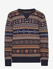 Ralph Lauren Kids - Bear Fair Isle Sweater - neuleet - rl navy multi - 0