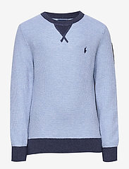 Ralph Lauren Kids - Textured Cotton Sweater - knitwear - chambray heather - 0