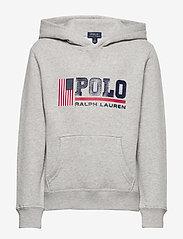 Ralph Lauren Kids - Flag Logo Fleece Hoodie - pulls à capuche - andover heather - 0