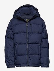 Ralph Lauren Kids - Hooded Down Jacket - untuva- & toppatakit - french navy multi - 0