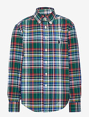 Ralph Lauren Kids - Plaid Cotton Poplin Shirt - paidat - green/red multi - 0