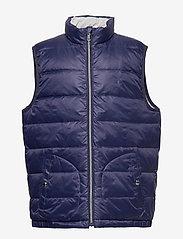 Ralph Lauren Kids - Reversible Quilted Down Vest - vests - french navy/grey - 0