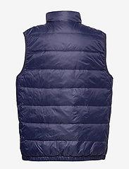 Ralph Lauren Kids - Reversible Quilted Down Vest - vests - french navy/grey - 1